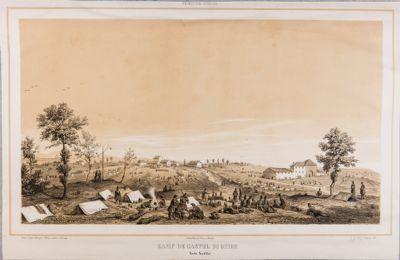 Castel di Guido, veduta della campagna con l'occupazione francese