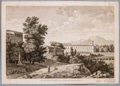 Palazzo del Quirinale, veduta dai giardini