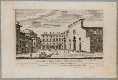 Altra veduta della piazza di S. Maria della Minerva