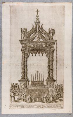 Chiesa di S. Pietro in Vaticano. Baldacchino