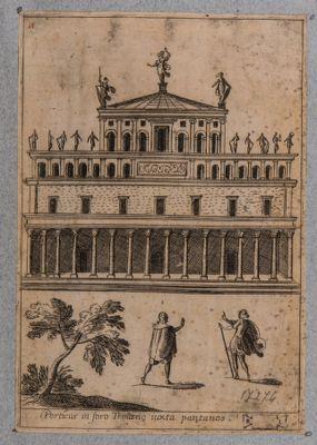 Foro d' Augusto, ricostruzione fantastica di una delle Basiliche
