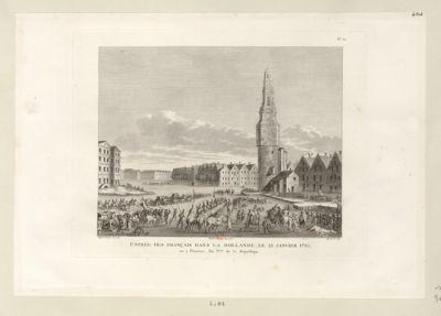 Entrée des Français dans la Hollande le 21 janvier <em>1795</em>, ou 2 pluviose, an 3.eme de la République : [estampe]