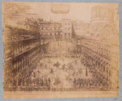 Mostra della Giostra fatta nel Teatro del Palazzo ridotto in questa forma