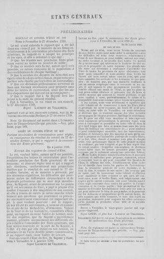 Tome 1 : 1789 – Introduction - états généraux - préliminaires. Cahiers des sénéchaussées et baillages [Agen - Amont] - page ..