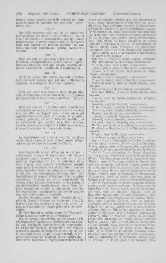 Tome 1 : 1789 – Introduction - états généraux - préliminaires. Cahiers des sénéchaussées et baillages [Agen - Amont] - page 678