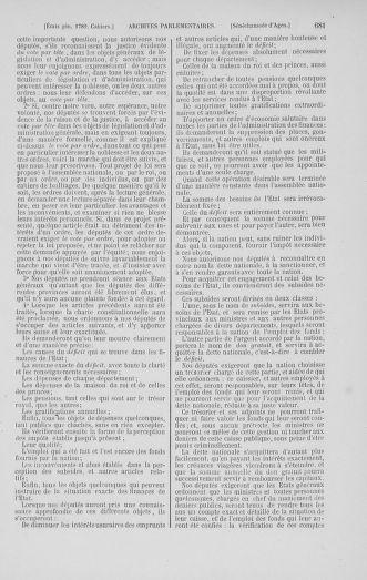 Tome 1 : 1789 – Introduction - états généraux - préliminaires. Cahiers des sénéchaussées et baillages [Agen - Amont] - page 681