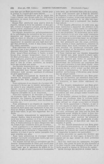 Tome 1 : 1789 – Introduction - états généraux - préliminaires. Cahiers des sénéchaussées et baillages [Agen - Amont] - page 682