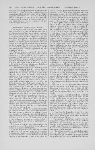 Tome 1 : 1789 – Introduction - états généraux - préliminaires. Cahiers des sénéchaussées et baillages [Agen - Amont] - page 684