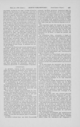Tome 1 : 1789 – Introduction - états généraux - préliminaires. Cahiers des sénéchaussées et baillages [Agen - Amont] - page 687