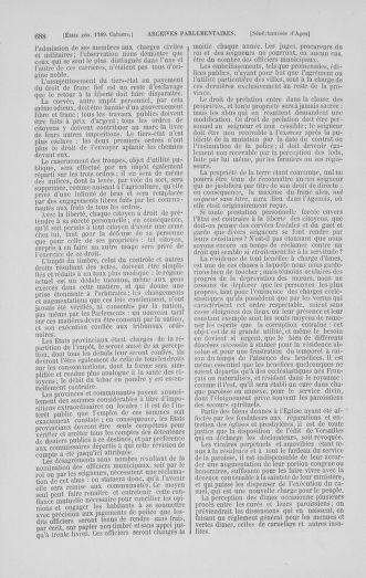 Tome 1 : 1789 – Introduction - états généraux - préliminaires. Cahiers des sénéchaussées et baillages [Agen - Amont] - page 688