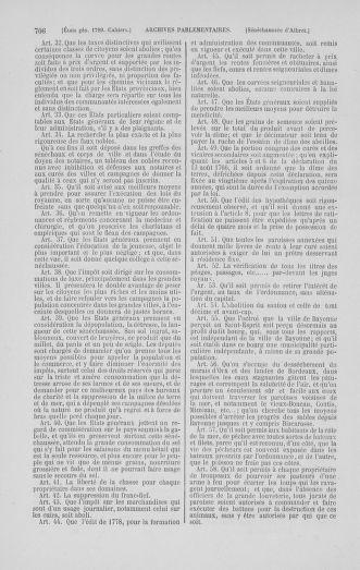 Tome 1 : 1789 – Introduction - états généraux - préliminaires. Cahiers des sénéchaussées et baillages [Agen - Amont] - page 706