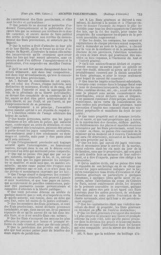 Tome 1 : 1789 – Introduction - états généraux - préliminaires. Cahiers des sénéchaussées et baillages [Agen - Amont] - page 713