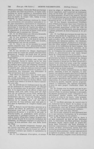 Tome 1 : 1789 – Introduction - états généraux - préliminaires. Cahiers des sénéchaussées et baillages [Agen - Amont] - page 758