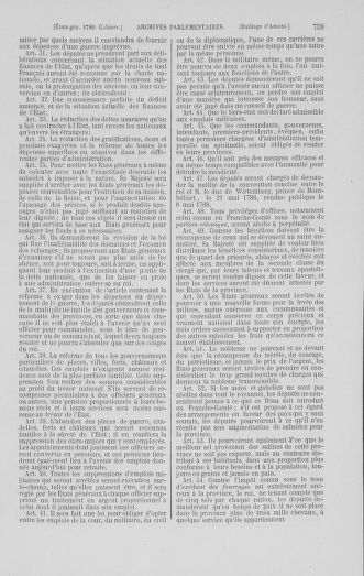 Tome 1 : 1789 – Introduction - états généraux - préliminaires. Cahiers des sénéchaussées et baillages [Agen - Amont] - page 759