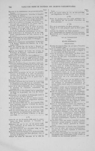 Tome 1 : 1789 – Introduction - états généraux - préliminaires. Cahiers des sénéchaussées et baillages [Agen - Amont] - page 786