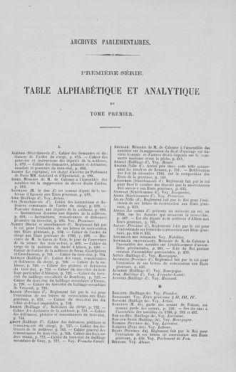 Tome 1 : 1789 – Introduction - états généraux - préliminaires. Cahiers des sénéchaussées et baillages [Agen - Amont] - page 789