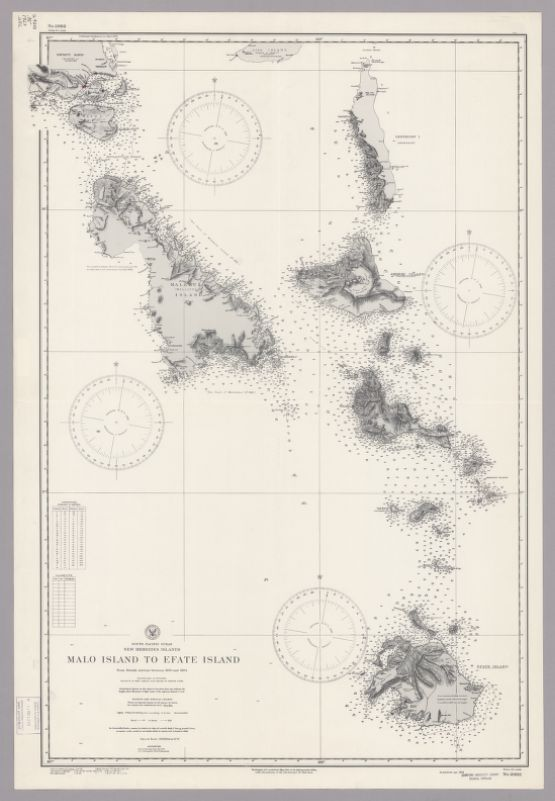 South Pacific Ocean : New Hebrides Islands. Malo Island to Efate Island