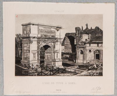 Arco di Tito, lato sud