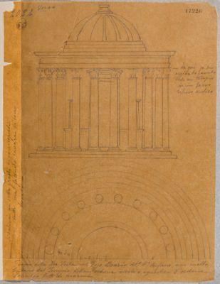 Tempio di Vesta, alzato ricostruito e semipianta