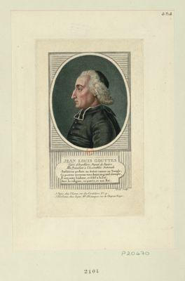 Jean Louis Gouttes curé d'Argelliers, député de Beziers, elu président à l'Assemblée nationale... : [estampe]