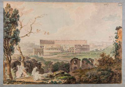 Colosseo, esterno. Veduta dal Palatino
