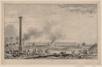 Vue de la prise d'Alexandrie par l'armé française aux ordres de Bonaparte le 4 prairial an 6 [dessin]