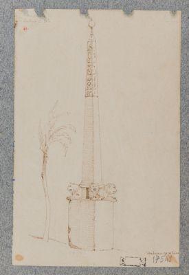 Campidoglio, obelisco e palma capitolina
