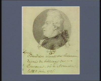 Louis Burdelot vicomte de Pontorson député du bailliage de Coutances né à Avranches le 23 juin 1735 : [dessin]