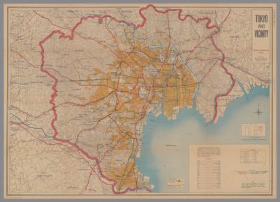 Tokyo and vicinity, showing bombed-out areas