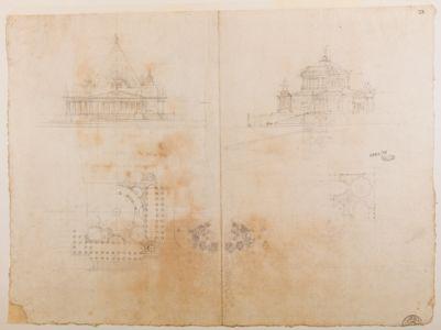 Pincio. Monumento in gloria dei monarchi. Studio di varianti