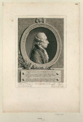 M. Bailly élu maire de la Ville de <em>Paris</em> le 15 juillet 1789 extrait du discours au roi, à son entrée dans <em>Paris</em> le 17 juillet 1789... : [estampe]
