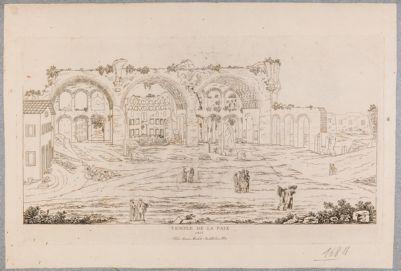 Basilica di Costantino, veduta generale del Foro