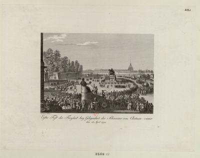 Erstes Fest der Freyheit bey Gelegenheit der Schweizer von Chateau-vieux den 15 April 1792 : [estampe]
