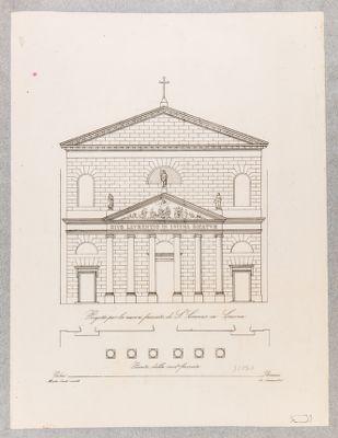 Chiesa di S. Lorenzo in Lucina, facciata