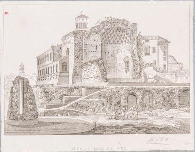 Tempio di Venere e Roma visto dal Colosseo