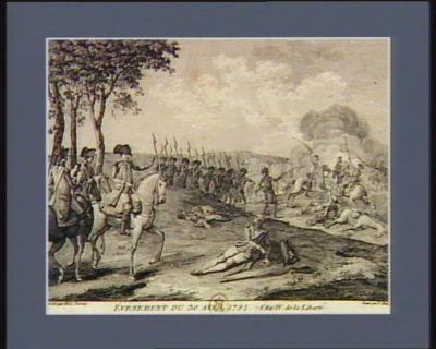 Evénement du 30 avril 1792 l'an IV de la liberté l'Assemblée nationale par un decret du 20 avril sanctionné par le Roi le même jour, déclara la guerre, au nom du peuple français, à François 1, Roi de Hongrie et de Bohême... : [estampe]