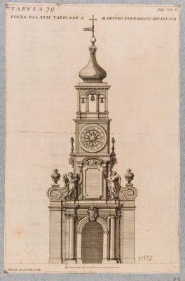 Porta Palatii Vaticani a Martino Ferrabosco delineata