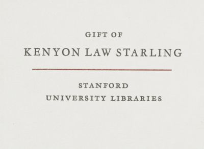 Gift of Kenyon Law Starling