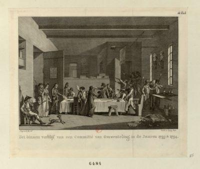 Het Binnen Verblijf van een Committé van Omwenteling, in de jaaren 1793 & 1794 [estampe]