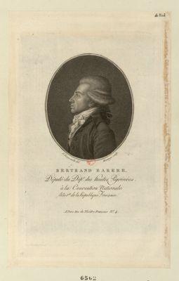 Bertrand Barere député du dept. des Hautes Pyrenées, à la Convention nationale, l'an 1.er de la République française [estampe]