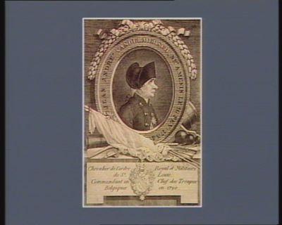 Jean André Vandermersch, né a Menin le 10 fev. 1734 chevalier de l'ordre royal et militaire de St Louis commandant en chef des troupes belgiques en 1790 : [estampe]