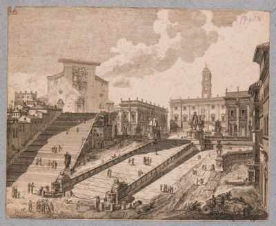 Campidoglio, veduta generale della piazza Aracoeli