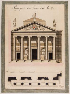 Chiesa di San Rocco, prospetto