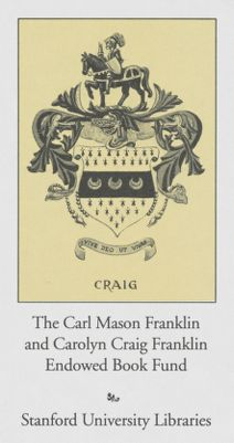 The Carl Mason Franklin and the Carolyn Craig Franklin Endowed Book Fund
