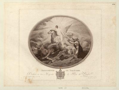 Apothéose de Voltaire dediée a sa Majesté le roi de Prusse... : [estampe]