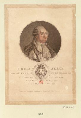 Louis seize Roi de France et de Navarre né à Versailles le 23 août 1754 marié le 16 de may 1770 sacré à Rheims le 11 juin 1775 : [estampe]