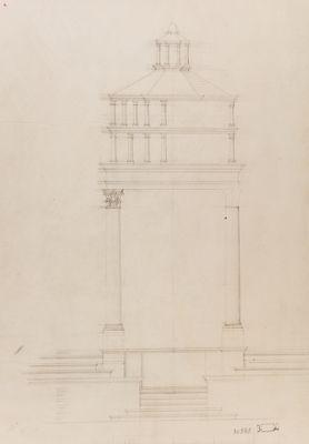 Chiesa di S. Pietro in Vinculis. Baldacchino per la confessione, progetto