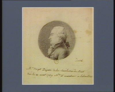 M. Moyot député de la sénéchaussée de Brest née le 10 aout 1749 n.t et armateur à [illisible] : [dessin]