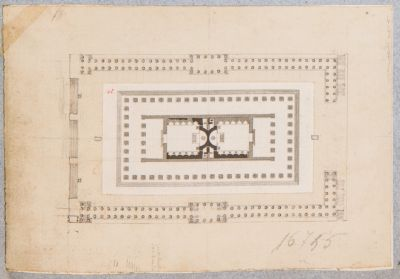 Tempio di Venere e Roma, pianta generale