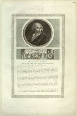 Jean Paul Marat, député de Paris <em>a</em> la Convention nationale [estampe]